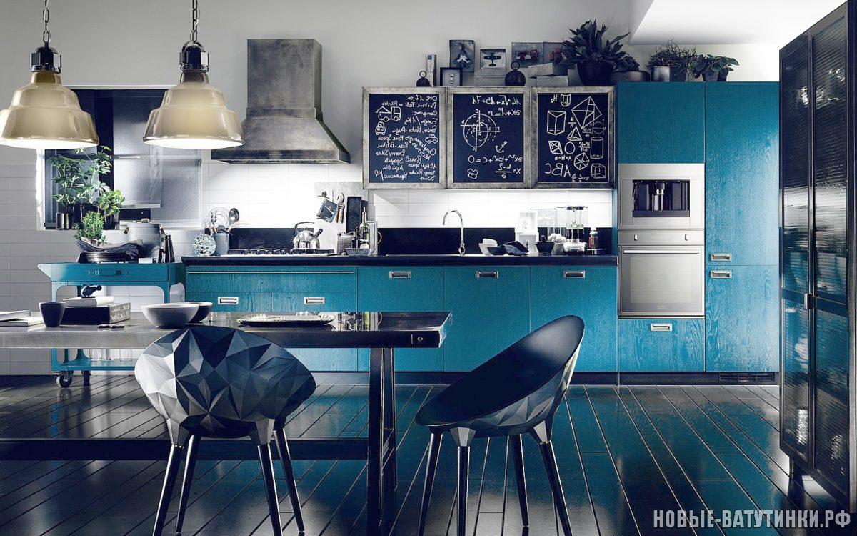 Кухня в стиле Лофт в синих тонах.png