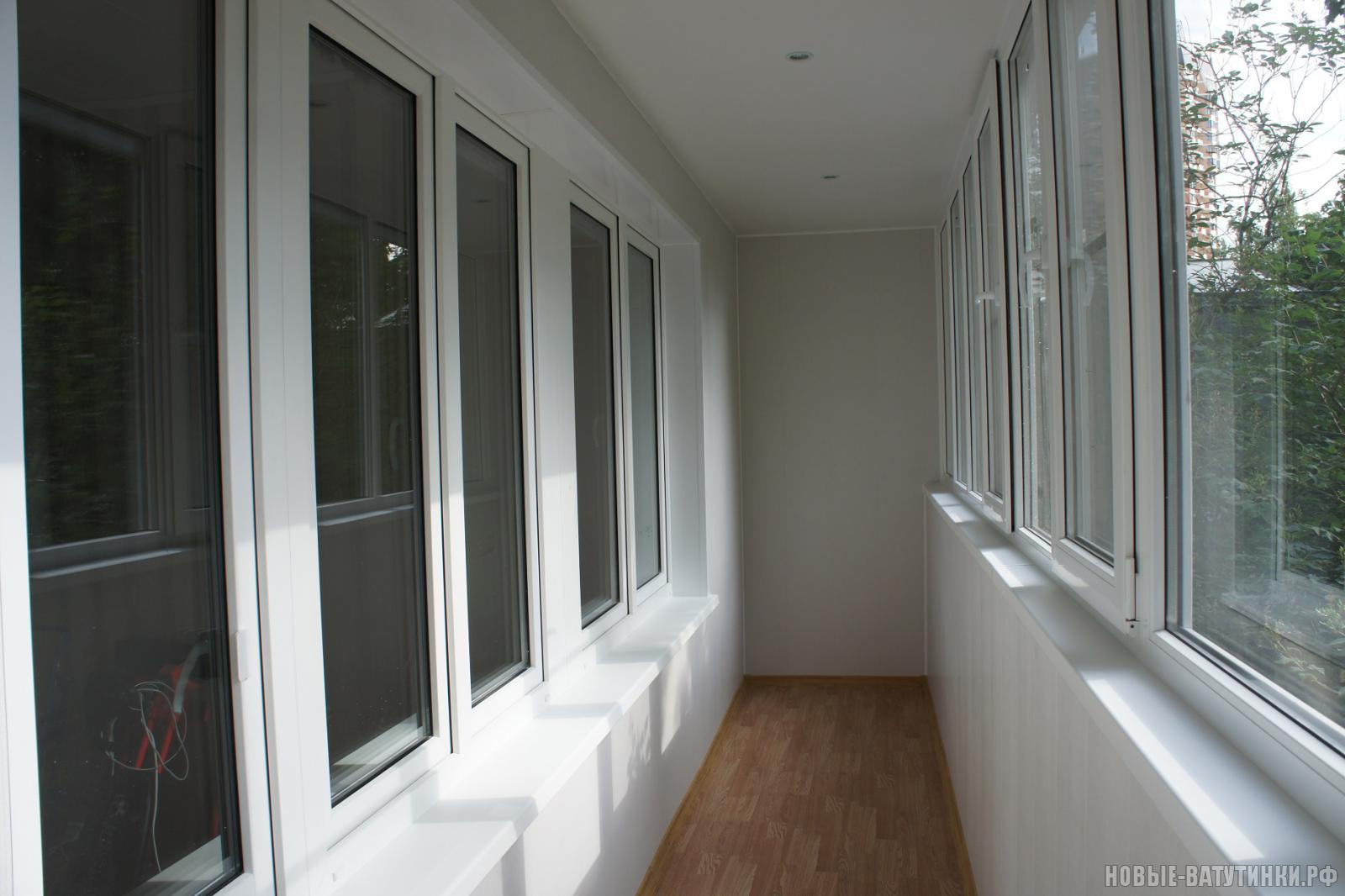 Фото отделки балконов и лоджий.